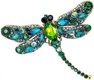 RainbowBeauty La Moda la lib/élula tem/áticas Crystal Esmalte Diamantes de imitaci/ón Broche para Las Mujeres joyer/ía Ropa de Vestir decoraci/ón de la Bufanda