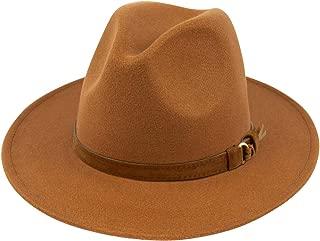 Womens Classic Wide Brim Floppy Panama Hat Belt Buckle...
