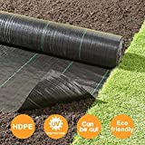 Goasis Lawn Weed Barrier Control Fabric Ground Cover Membrane Garden Landscape Driveway Weed Block Nonwoven Heavy Duty...