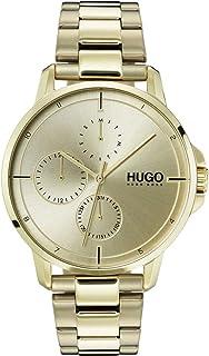Hugo - Orologio da polso al quarzo da uomo con quadrante multiplo, Focus
