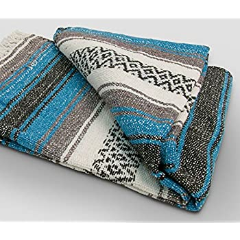 Yoga Mexican Blanket Throw - Beautiful, Bright and Comfortable Blanket Fair Trade000011