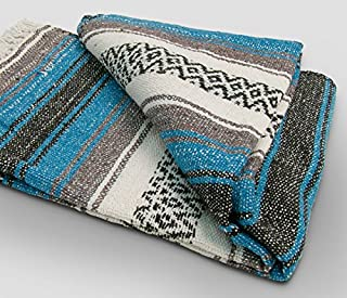 Yoga Mexican Blanket Throw - Beautiful, Bright and Comfortable Blanket Fair Trade *000011*