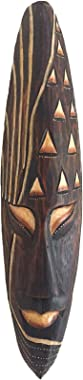 """OMA African Mask Good Luck Mask Wooden Wall Hanging Wall Decor African Decor Home Gift Large 20"""""""