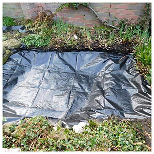 Hochwertige Teichfolie HDPE Gartenteichfolie 2 x 3m, UV und Witterungsbeständig, Teichfolie Fisch Teich Gardens Pools, für Fischteich Bachbrunnen Und Wassergarten, (Color:20S,Size:2x10M(6.6x32.8ft))