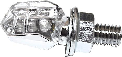 LED de intermitente Tiny, cromo, cristal transparente, S de gepr., par