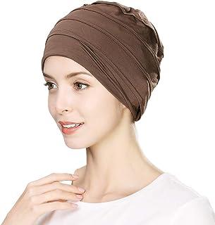 Soft Chemo Caps Turbans Sleep Hat for Women Head Wraps Cancer Headwear Beanies Patient Hairloss 55-60cm