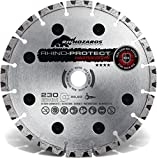 Disco de corte de Protect Rhino rígida Rocas Diámetro 125/22,23orificio/altura del segmento 10mm/Disco De Corte Para hormigón