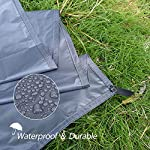 GEERTOP 1-3 Person Ultralight Waterproof Tent Tarp Footprint Ground Sheet Mat - For Camping Hiking Picnic 11