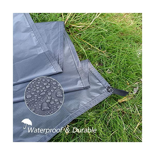 GEERTOP 1-3 Person Ultralight Waterproof Tent Tarp Footprint Ground Sheet Mat - For Camping Hiking Picnic 4