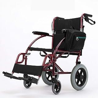 BZM-ZM 車椅子折りたたみ軽量車椅子運転医療、高齢アルミ合金ポータブル無効トラベル小車椅子ライトハンドプッシュ車いす