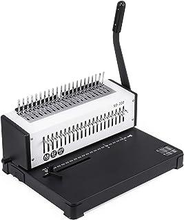 Chrisun Machine De Reliure à Spirale En Métal SD-220B Machine à Relier Manuelle à Reliure A4 21 Trous 400 Feuilles