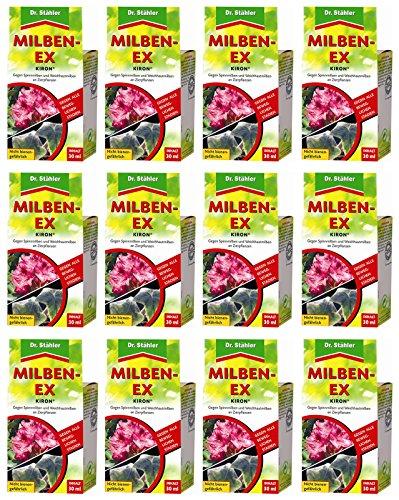 12 x 30 ml Dr. Stähler Kiron Milben-Ex + Zeckenzange mit Lupe