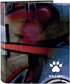 Kelme Graffiti - Carpeta folio, 4 anillas, 270 x 60 x 330 mm