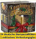 Kalea Bier-Adventskalender 2019   24 Deutsche Bier-Spezialitäten und 1 Verkostungsglas   24 x 0.33 l Flaschen   Geschenkidee Zur Vorweihnachtszeit