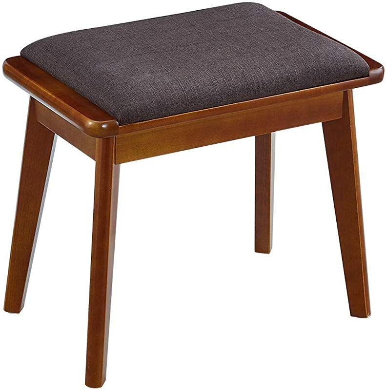 Carl Artbay Wooden Footstool Dressing Dressing Table Chair Bedroom Makeup Simple Small Square Change Shoe Bench Makeup Home