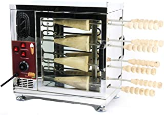 8 Sticks Commercial or Home Electric Ice Cream Cone Kurtos Kalacs Chimney Cake Roll maker Oven Machine (cone stick*8)