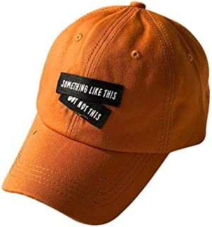 ZCLADLY Men's and Women's Casual Street Baseball Caps 3 (Color : Orange)