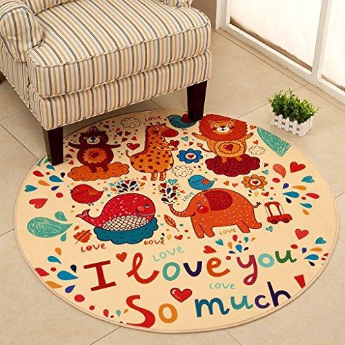 Good thing tapis Tapis rond de chaise d'ordinateur de tapis de bande dessinée antidérapante, tapis de tente de tapis de panier, tapis de chevet vert lavable (taille : Diameter 160cm)