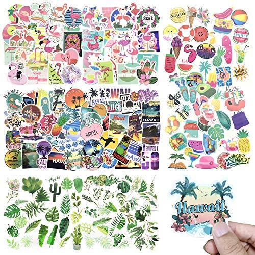 PietyPet Niedliche Hawaii Aufkleber 210 Stuck Wasserdicht Vinyl Stickers Graffiti Style Decals fur Wasserflasche und Auto Motorrader Fahrrad Skateboard Snowboard Gepack Laptop