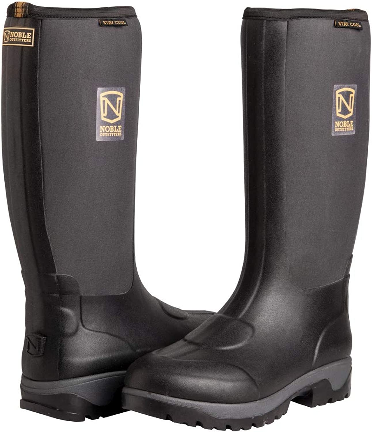 Noble Mens Muds Stay Cool High Waterproof Boots - Black