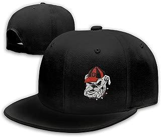 Georgia Bulldogs Logo Snapback Flat Bill Baseball Cap Men's Black