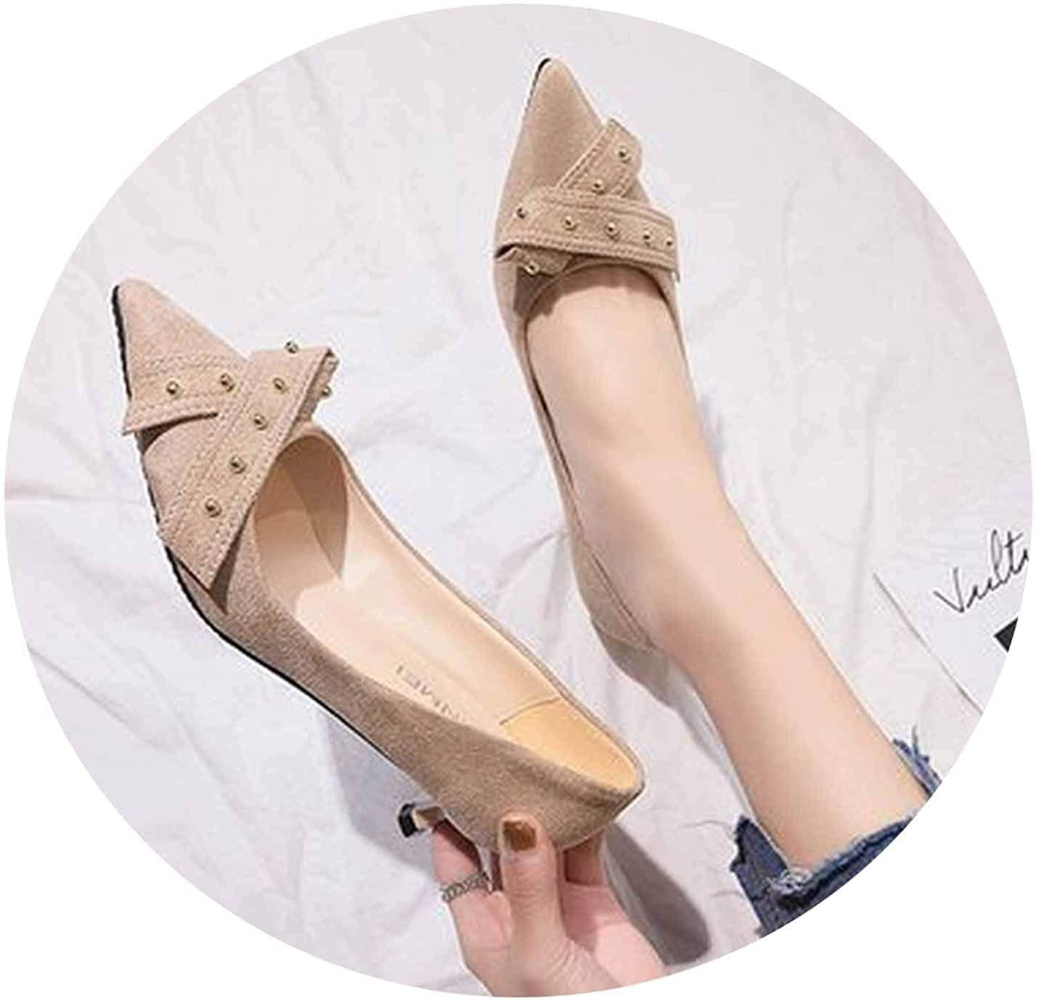 Spring Wild Small Fresh high Heels Stiletto Pointed Single shoes Simple Womens