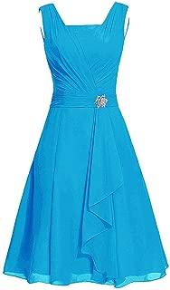 TalinaDress Women Short Chiffon Straps Bridesmaid Dresses Prom Gowns E290LF