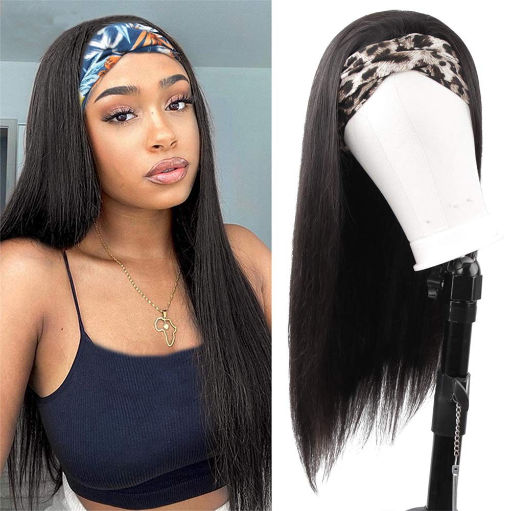 New mail order Headband Wigs for Black Cheap mail order specialty store women Human Hair Brazilian Straight