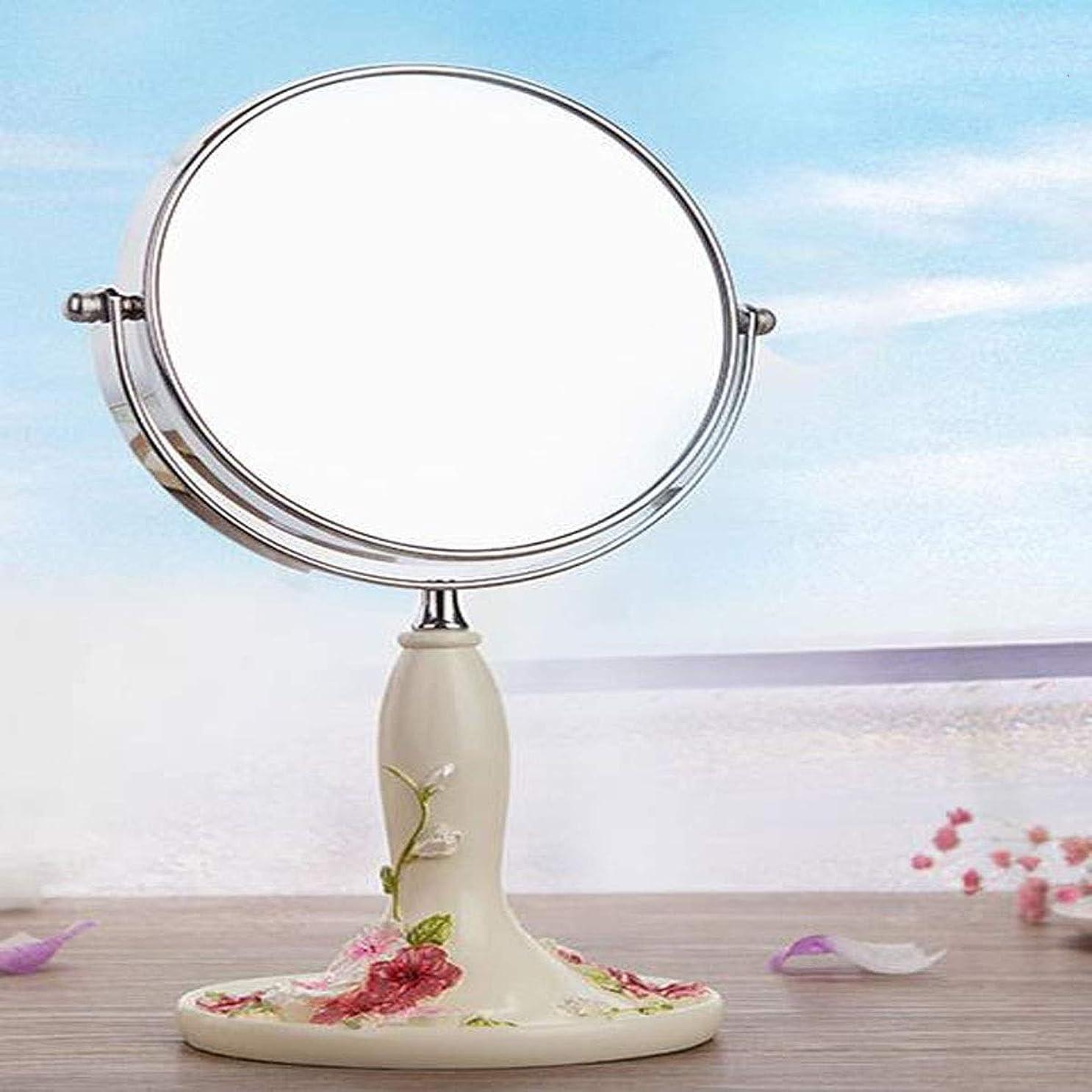 宇宙率直な木WYYI ハイエンド手描き化粧鏡自宅のデスクトップ (Color : Beige, Size : 20*10.5*39cm)