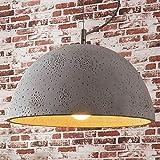 Lindby Beton Pendelleuchte 'Jelin' (Modern) in Alu aus Beton, u.a. für Wohnzimmer & Esszimmer (1 flammig, E27, A++) - Deckenlampe, Esstischlampe, Hängelampe, Hängeleuchte, Wohnzimmerlampe