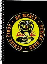 Cobra Kai orm logotyp ingen nåd spiral anteckningsbok