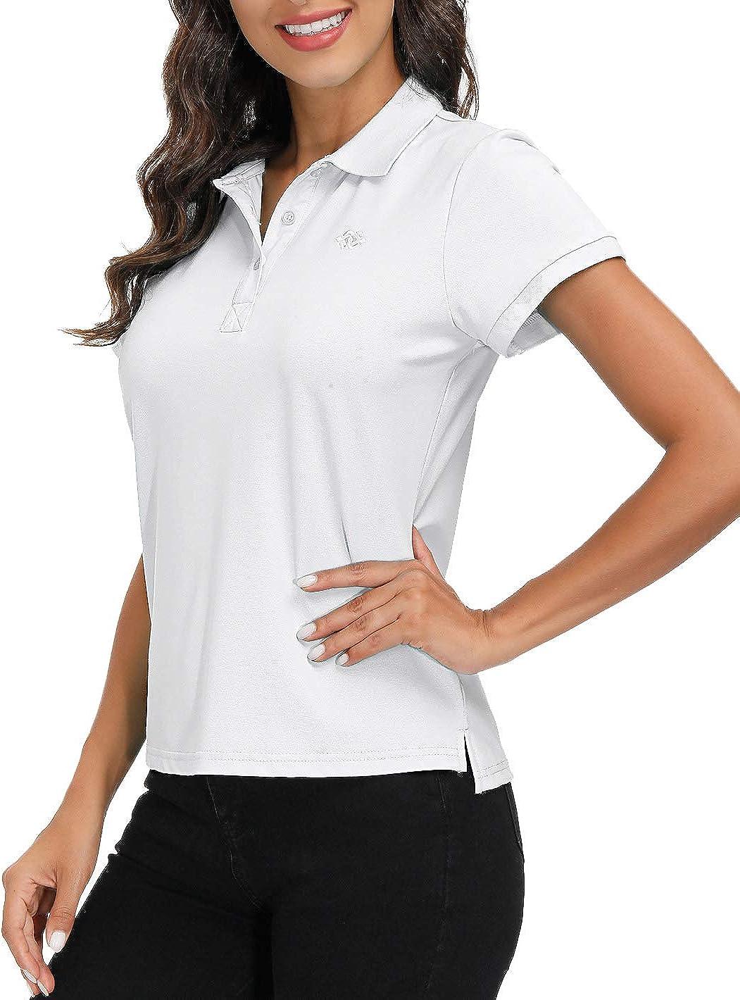 AjezMax Womens Arlington Mall Polo Shirt Sale item Golf Quick Basic Dry Sport Short