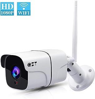 Cámara de Vigilancia Exterior QZT Cámara IP WiFi HD 1080P con Visión Nocturna IR LED Motion Detection 2-Way Audio Impermeable IP66 Cámara de Seguridad para Casa Garden Garaje