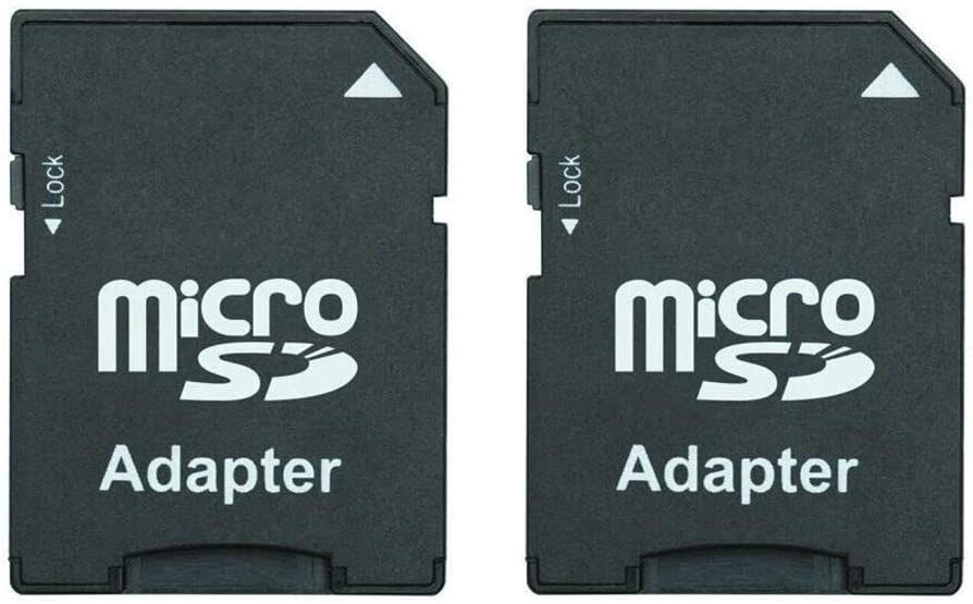 Micro SD Card to SD Card Adapter, TF Card Micro SDHC to SD SDHC Adapter Works with Memory Cards for Older Cameras, PDA, Medical Devices (Pack of 2)