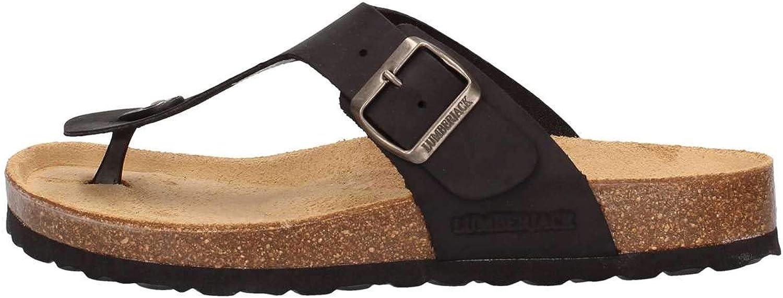 Vallegreen Lumberjack ISLA flip Flop Sandals bio shoes Men Leather Black