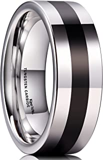 Mens Tungsten Carbide Wedding Ring Classic Engagement Band for Men Women