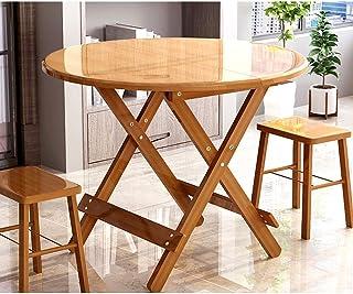 HX Table Ronde De Petite Taille De Ménage Table Carrée Portable Pliante Table Simple Table Pliante Table À Manger avec Tab...