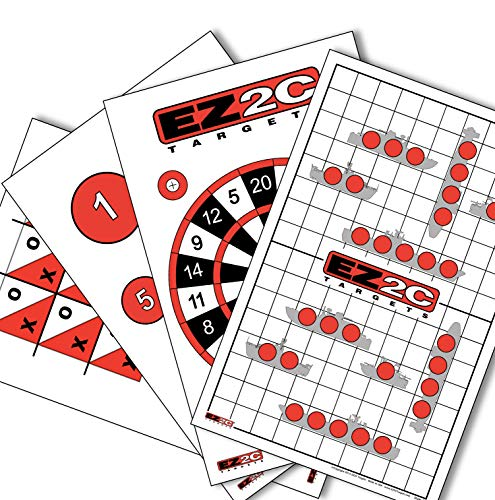 Paper Targets for Shooting Practice by EZ2C | Gun and Rifle Game Targets Paper | Targets for Shooting Games | Target Shooting Range Accessories | Firearms Targets | 11 x 17 (40 Pack)