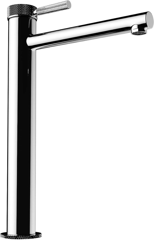 Sogood Design Armatur in Silber Waschbeckenarmatur praktischer Einhebelmischer 30,5 cm hoch Waschtischarmatur