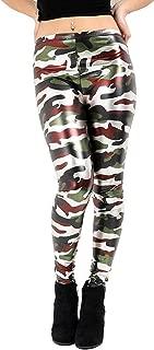 Hi Fashionz Metallic Army Camouflage Legging Girls Kids Foil Shiny Kids Childrens Leggings Dancewear Pants