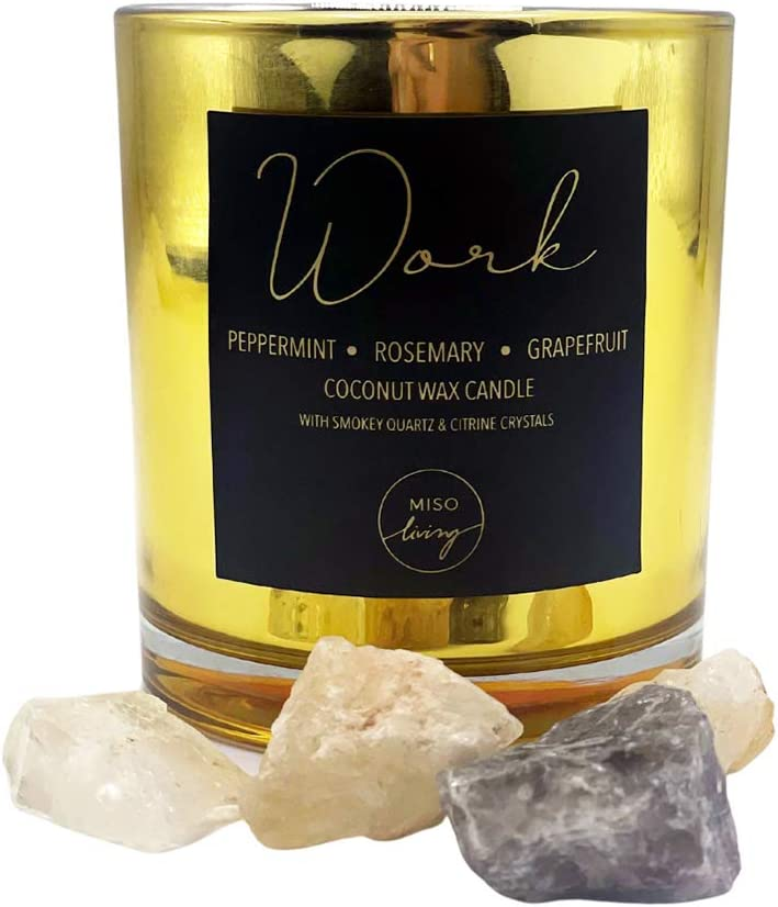 Healing Crystal Candle Citrine NEW before selling ☆ Pepperm Crystals online shopping Quartz Smokey