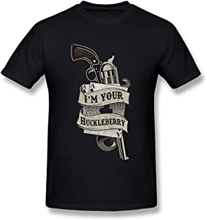 Laki-co Men's Summer I'm Your Huckleberry 3D Printed T-Shirt O Neck Short Sleeve Tee