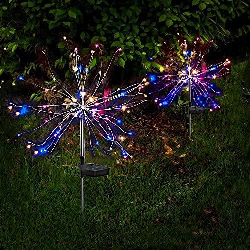 Solarleuchten Garten Deko, 120 LED Solar Feuerwerk Licht mit 8...