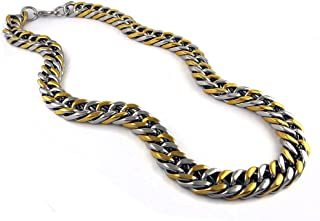 Mens Stainless Steel Miami Cuban Link Necklace Chain 15mm 24