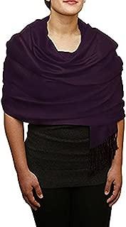 Pashmina Scarf Reversible Cashmere Shawl with Swarovski Crystal 80 x 30 Inches
