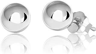 silver ball stud earrings