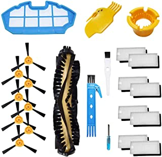 Theresa Hay Accessories Kit for ECOVACS DEEBOT N79S DEEBOT N79 Robotic Vacuum Replacement, 1 Main Brush, 8 Filters, 8 Side Brushes, 1 Primary Filter, 2 Cleaning Tool