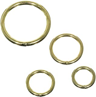 Paracord Planet 50 Pack Welded Brass Assorted O-Ring Pack of - DIY Décor, Jewelry, Bags