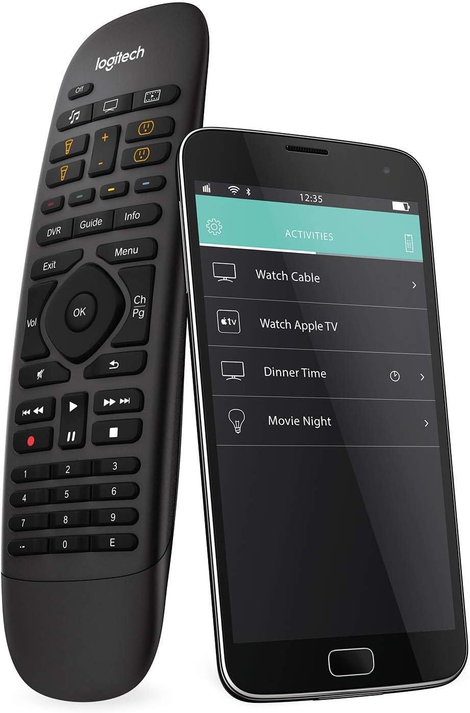 Logitech Harmony Companion Control Remoto a Distancia para SKY, Apple TV, fireTV, Alexa, Roku, Netflix, Sonos and Smart Home, Fácil Configuración LG/Samsung/Sony/Hisense/Xbox/PS4 , Negro