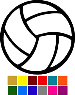 Sports Volleyball Decal - Choose Color V and T Gifts